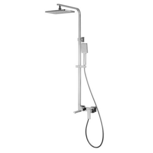 Душевая система Volle LEON (смеситель для ванны, верхний и ручной душ1 режима, шланг полимер 1,5м) 15219300
