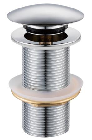Донный клапан Volle click-clack хромированный, латунь, 1 ¼» 90-00-043