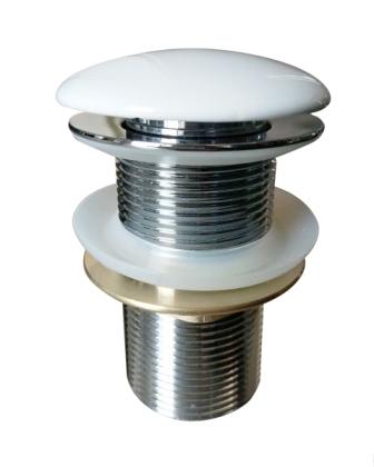 Донный клапан Volle click-clack цвет белый, латунь, 1 ¼» 90-00-037white
