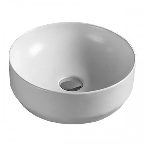 Умывальник Volle 355*355*125 мм, накладной, круглый, матовый 13-01M-040