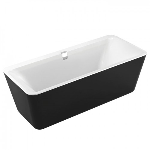Ванна Volle отдельно стоящая 1800*800*620 мм, акриловая, слив-перелив, черно/белая 12-22-110black