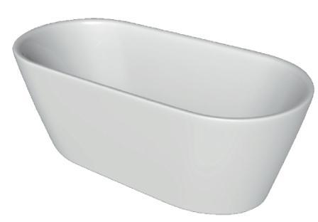 Ванна Volle отдельно стоящая 1600*750*600 мм, акриловая 12-22-612