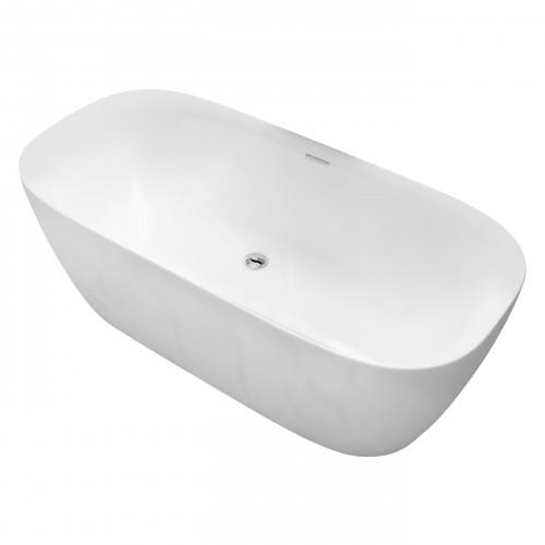 Ванна Volle отдельно стоящая 1700*800*585 мм, матовая акриловая, с сифоном 12-22-808