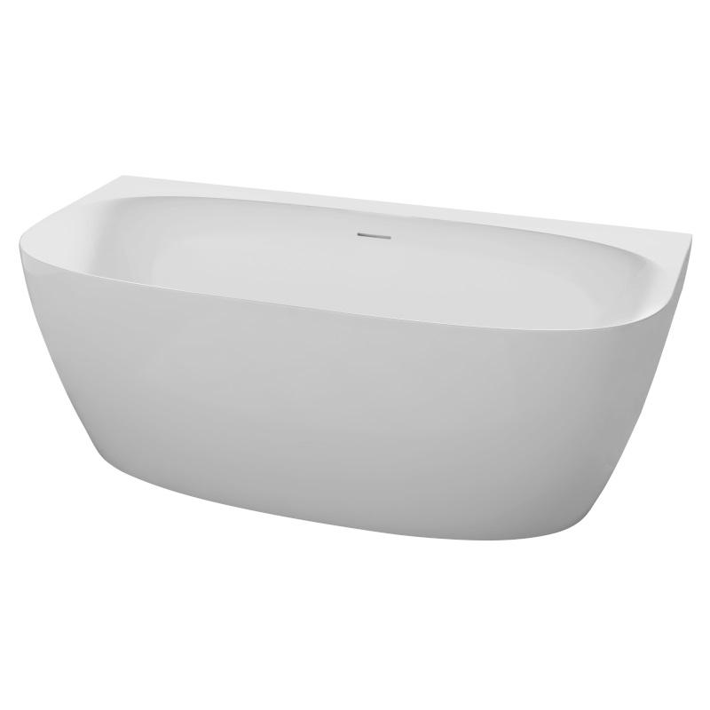 Ванна Volle отдельно стоящая пристенная 1700*800*585 мм, матовая акриловая, с сифоном 12-22-809