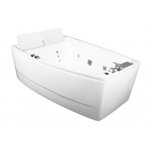Ванна Volle акриловая асимметричная 1700*1200*630 мм, с гидромассажем, левая 12-88-100/L