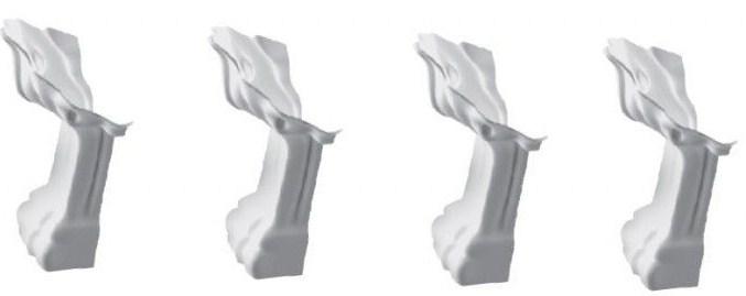 Декоративные ножки для ванной Marmorin FAMA (белые) 566 016 xx x