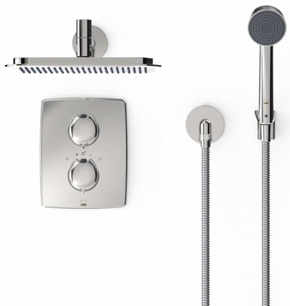 Душевой гарнитур ORAS OPTIMA (верхний душ, держатель для душа, ручная лейка, смеситель, шланг душевой) (7139)