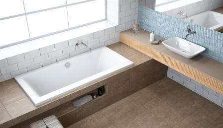 Ванна акриловая + ножки Radaway Aridea Lux 180×80 WA1-25-180x080U
