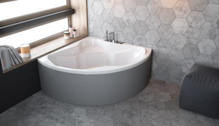 Ванна акриловая + ножки Radaway Keria 150×150 WA1-37-150x150U