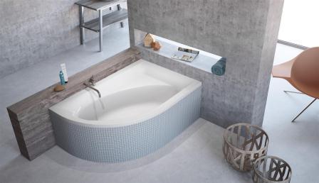 Ванна акриловая + ножки Radaway Mistra 150×100 правая WA1-07-150x100P