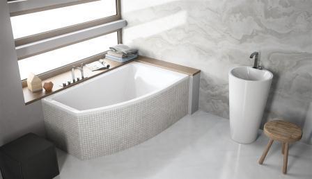 Ванна акриловая + ножки Radaway Sitera 160×95 правая WA1-32-160x095P