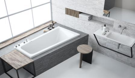Ванна акриловая + ножки Radaway Evia 150×80 левая WA1-44-150x080L
