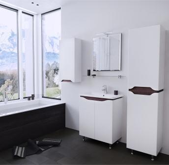 Зеркало Sanwerk «SIMPLI AIR» 60×75 цв. венге MV0000739