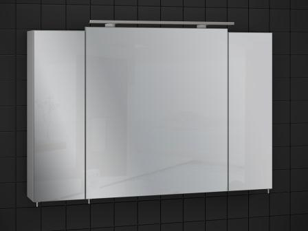 """Галерея зеркальная Sanwerk """"EVEREST"""" 100 цв. серый без подсветки, 3F MV0000778"""