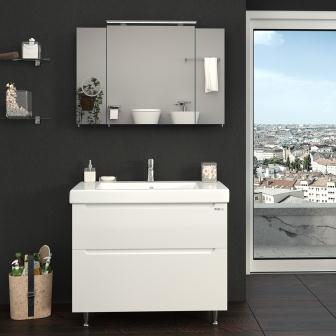 """Галерея зеркальная Sanwerk """"EVEREST"""" Zoom 100 цв. серый без подсветки, 3F MV0000784"""